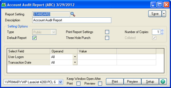 Sage 100 ERP (MAS 90): How to Run Sage 100 System Audit Reports
