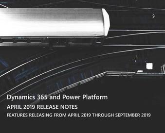 Dynamics 365 April 19 Release