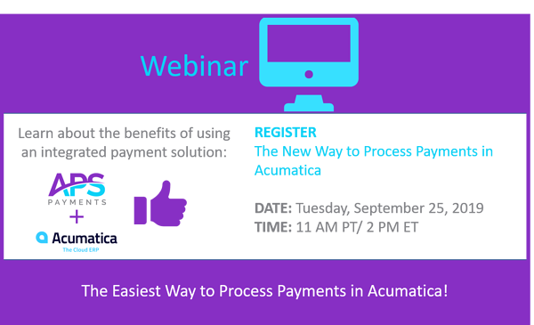 Webinar CTA - Acumatica New way to process payments